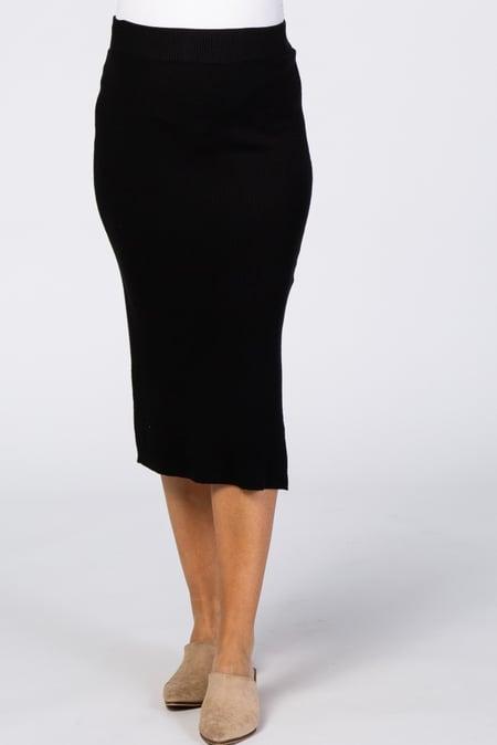 Lilo Maternity Short Knit Skirt Black 29