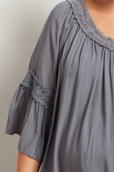 ec6836547bb36 Ivory Crochet Detail Bohemian Maternity Dress