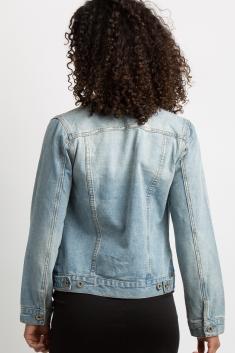43f6cc7ad8532 Blue Light Wash Denim Maternity Jacket