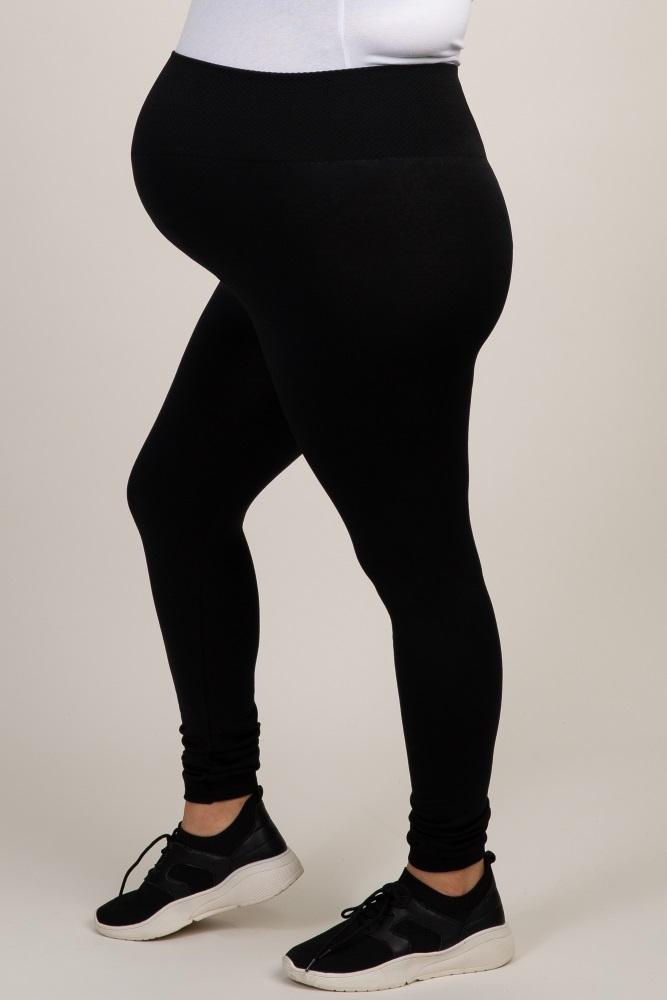 fbc041f008f89 Black Plus Maternity Leggings