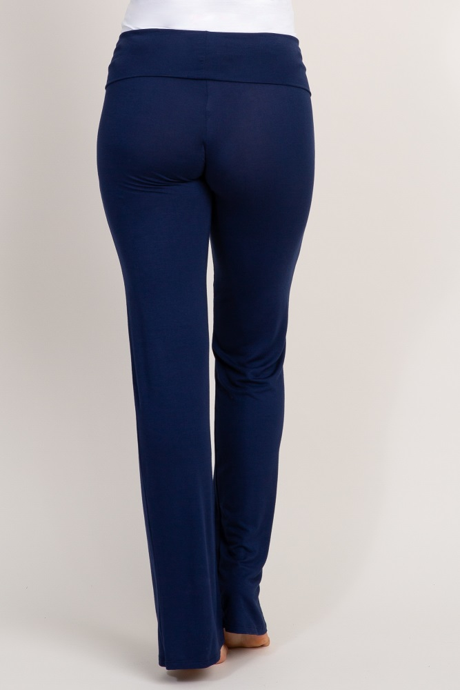 f24841e07c311 Navy Blue Maternity Yoga Pants