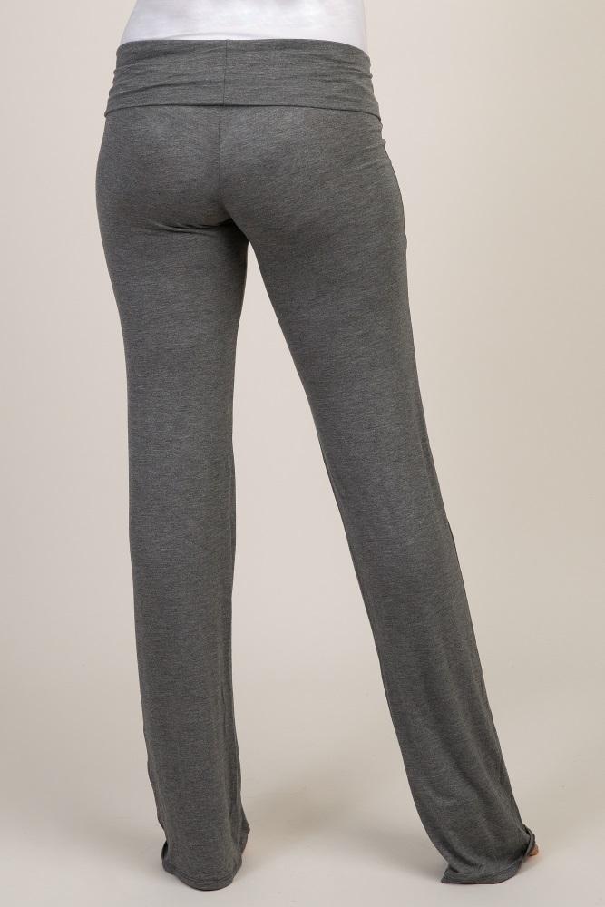7cf1986d9544f Charcoal Long Maternity Yoga Pant
