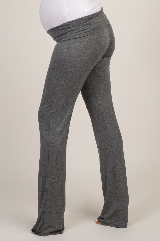 high quality hot-selling newest world-wide free shipping Charcoal Long Maternity Yoga Pant