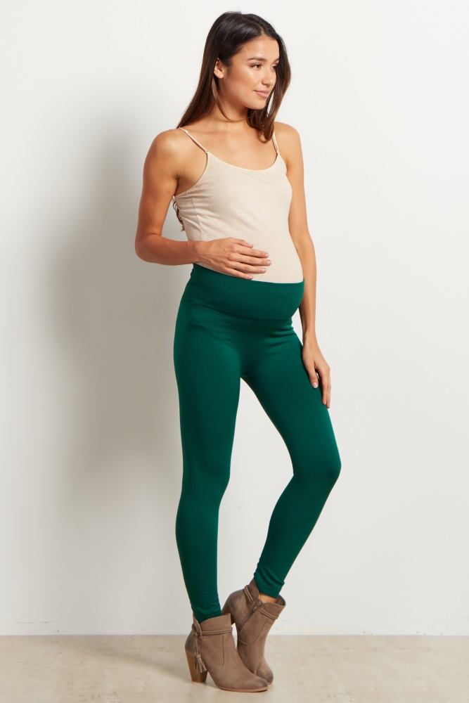 31a99533c3a87 Forest Green Maternity Leggings