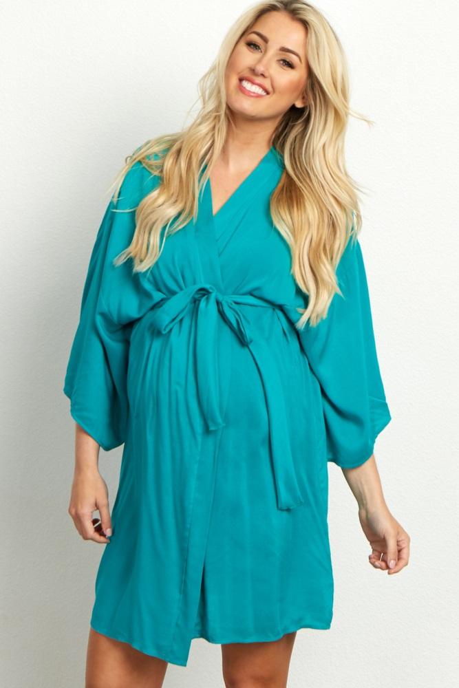 jade solid delivery/nursing maternity robe