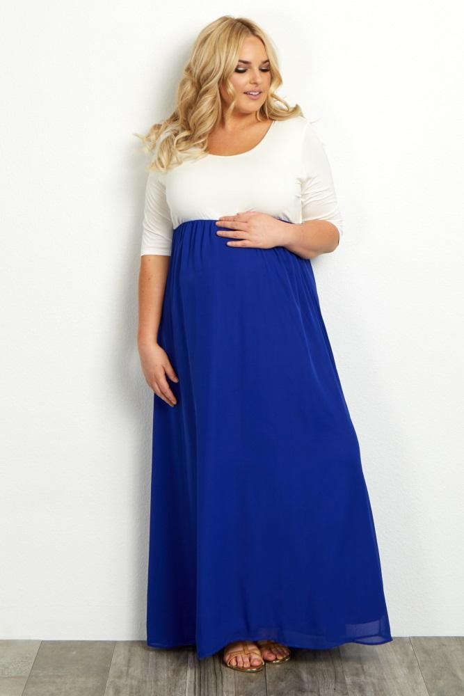 XL Royal Blue Maxi Dresses