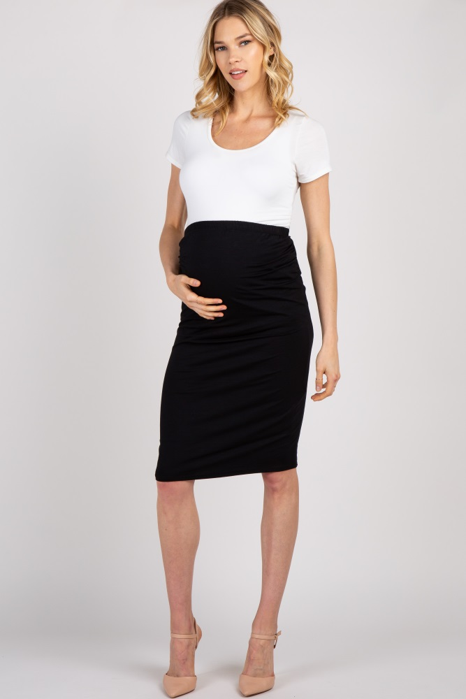 0be620cd4b6c0 Black Fitted Maternity Pencil Skirt