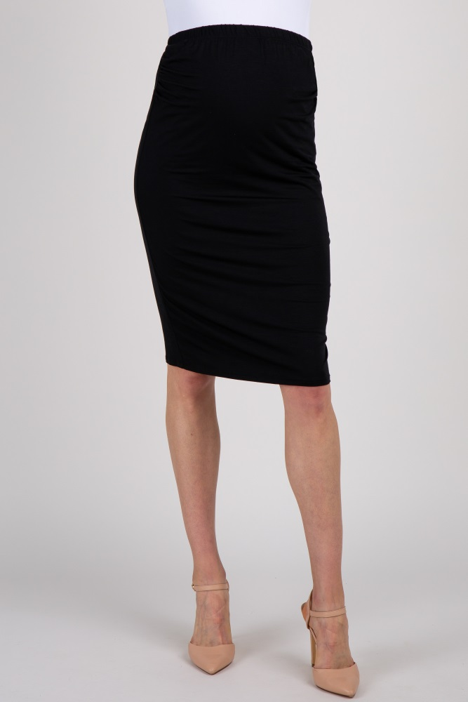 7e501800fc Black Fitted Maternity Pencil Skirt