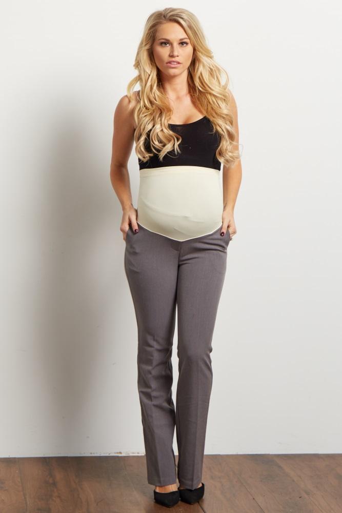 ff7a3a2912d63 Grey Maternity Dress Pants