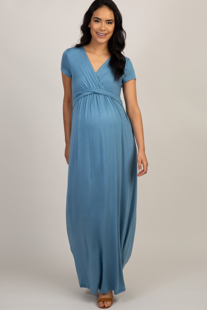a9721a1a8fe Quick Shop · Red Scalloped Maternity Dress.  55. Blue Draped Maternity Maxi