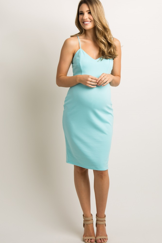 d5601f23d8f78 Jade Sweetheart Fitted Maternity Cami Dress
