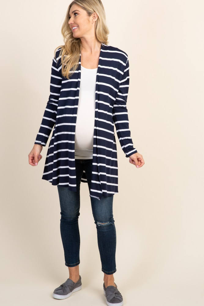801c1efe067 Navy Blue Striped Maternity Cardigan