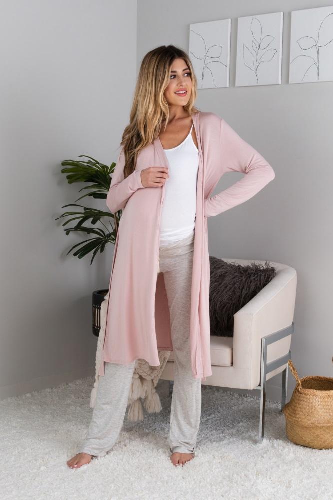 b0dff3139c3b6 Complete The Look. Ivory Basic Maternity Sleep Dress