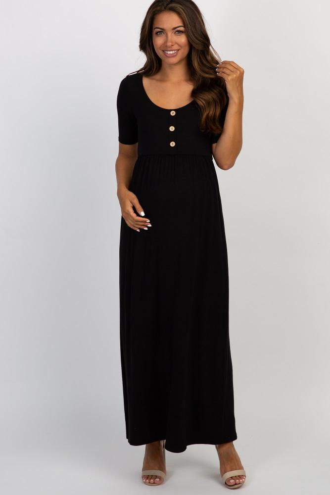99147fce52be1 maternity black maxi dress – Little Black Dress | Black Lace ...