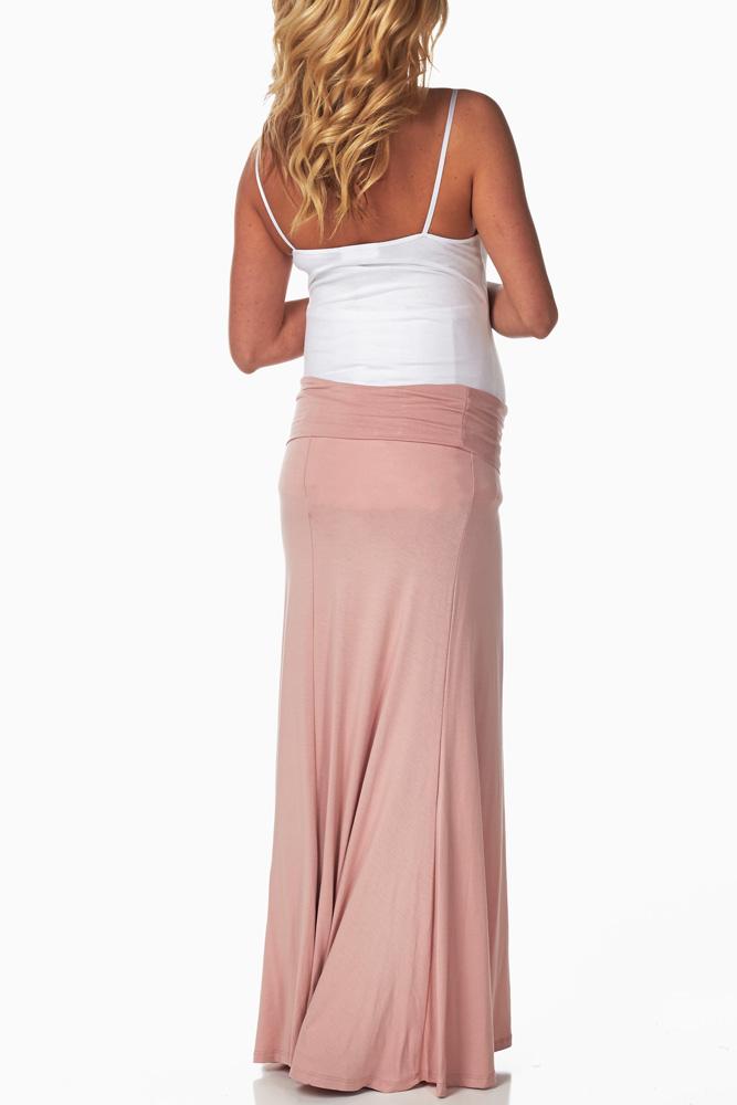 d6b3f242d Pale Pink Maxi Maternity Skirt