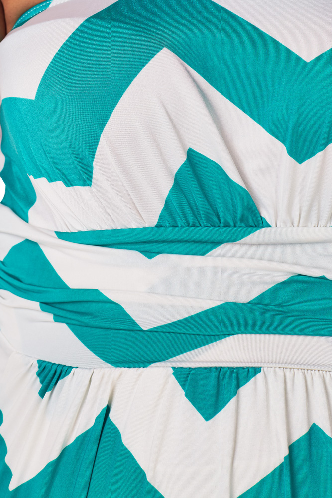 229a0239c91a5 Turquoise White Chevron Maternity Maxi Dress