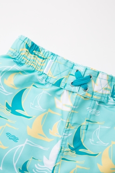 343940aafe Multi-Colored Blue Striped Ombre Toddler Swim Shorts