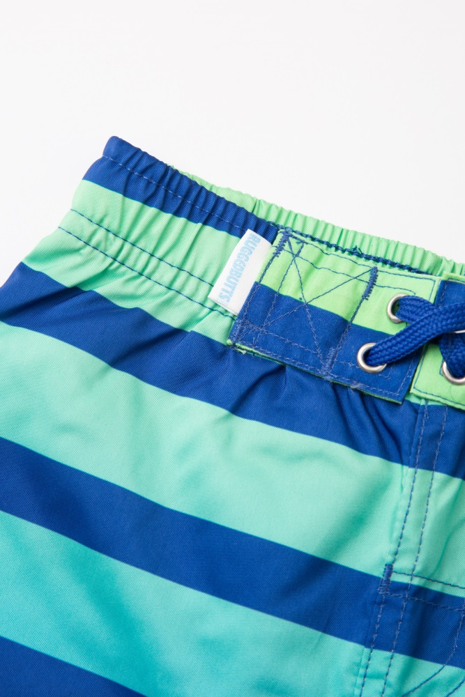 860b397ea0 Multi Colored Blue Striped Ombre Toddler Swim Shorts