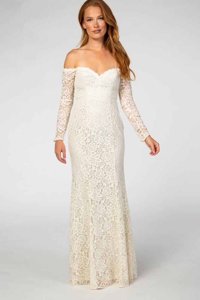 Solid Weiss Long Sleeve Wedding Kleid Cheapest C8b19 9a2d3