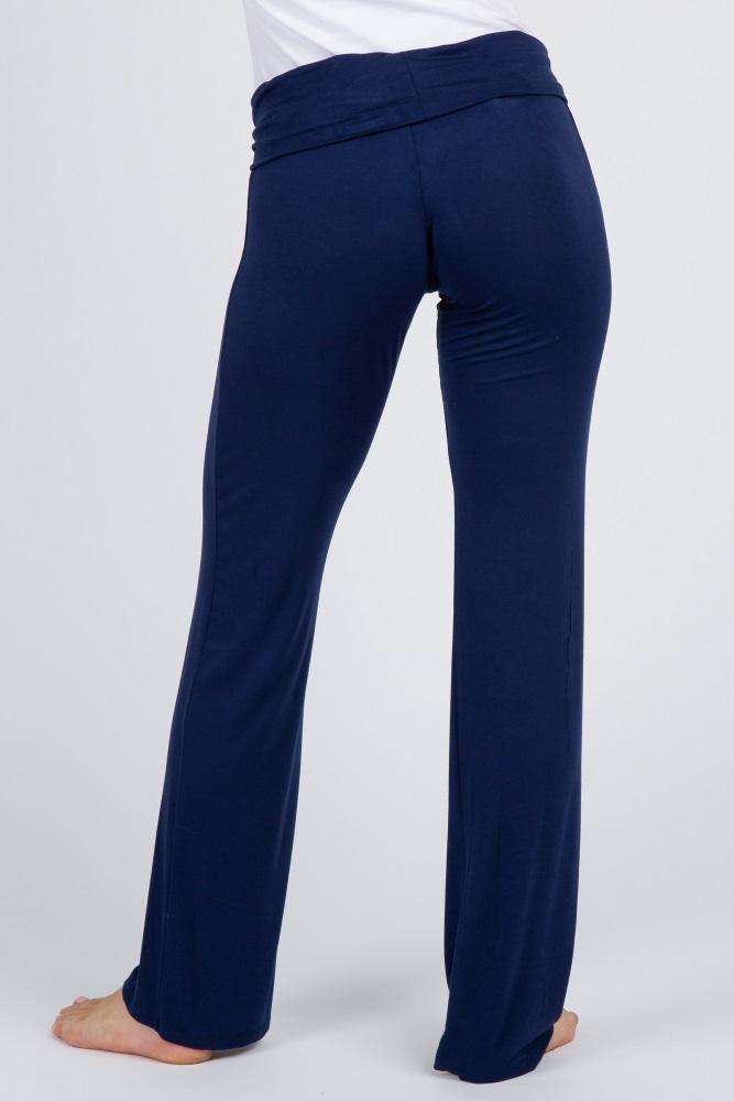 a42a28b2d5d71 Navy Blue Maternity Yoga Pants