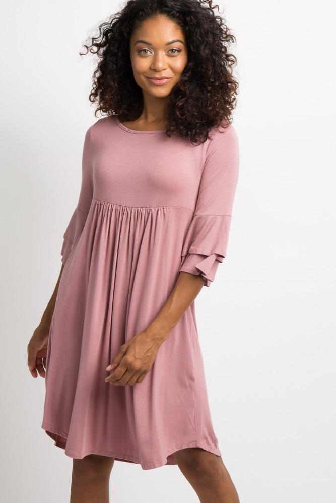 pink crisscross back babydoll dress