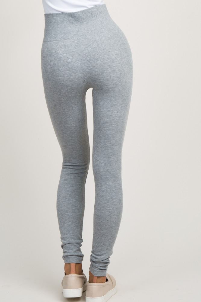 new new authentic differently Heather Grey Ribbed Knit Leggings