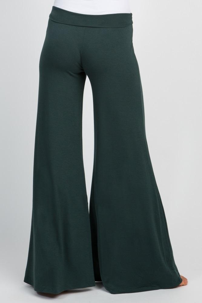 355791ebac1e3 Forest Green Wide Leg Maternity Lounge Pants